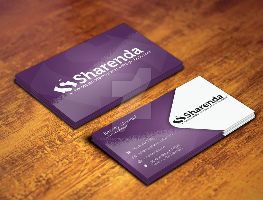 Sharenda Bussiness Card Mockup01 by sweetsandyinsan