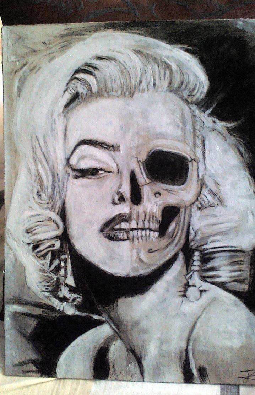 Marilyn Monroe skull by Artmeans321