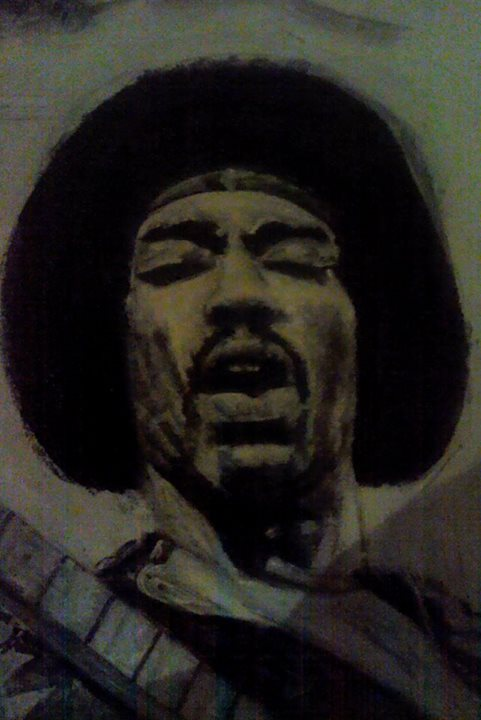 jimi hendrix almost finished by Artmeans321