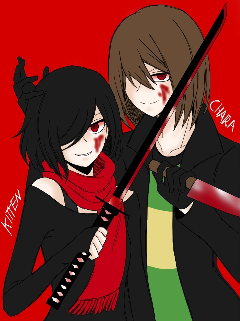 Partners In Crime Kitten And Chara Ver By Cneko Chan On Deviantart