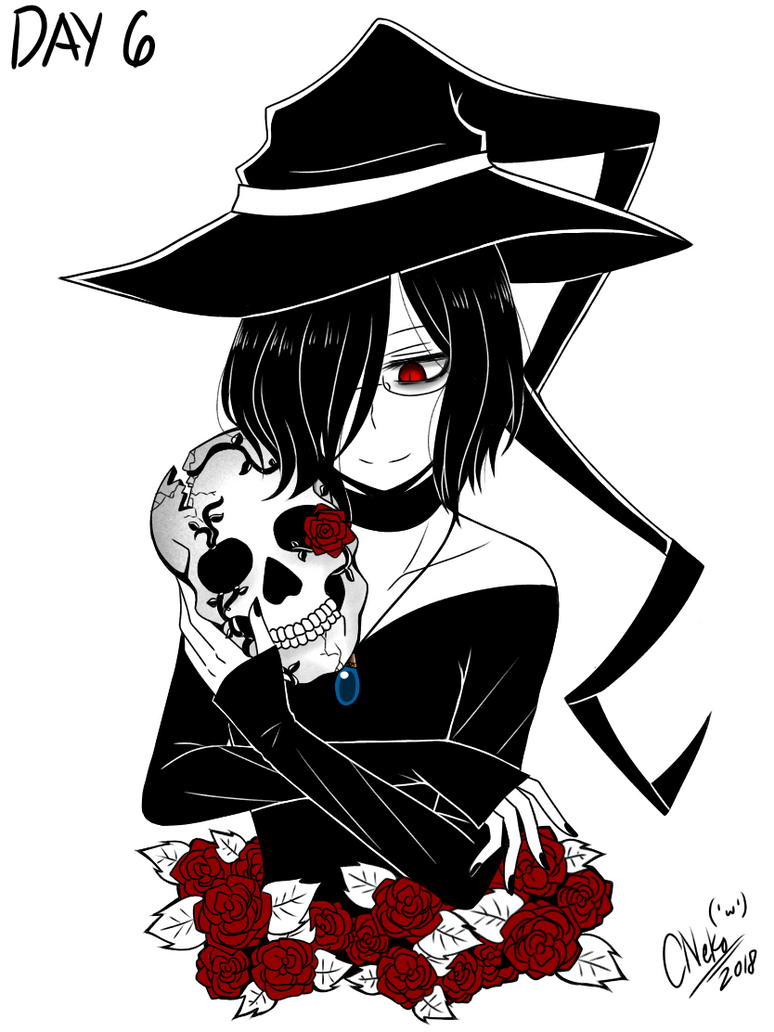 Inktober Day 6: Skull by CNeko-chan