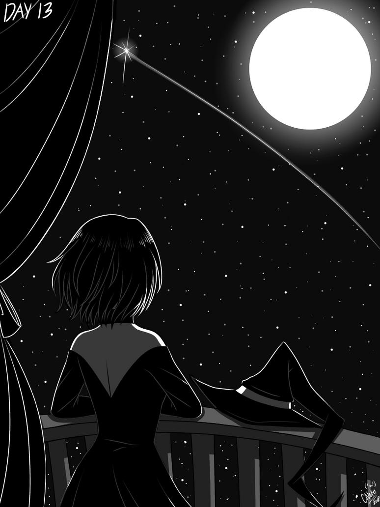 Inktober Day 13: Moon by CNeko-chan