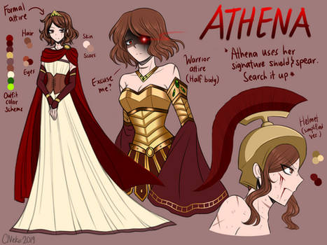 Goddess of War [MAKARIA Character sheets] by CNeko-chan