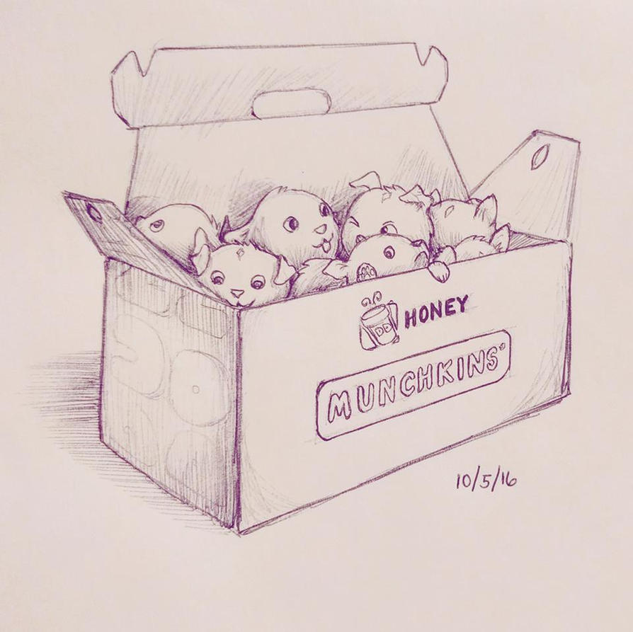 Inktober 5 - Honey Munchkins by meihua