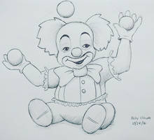 Inktober day 24 - Baby Clown