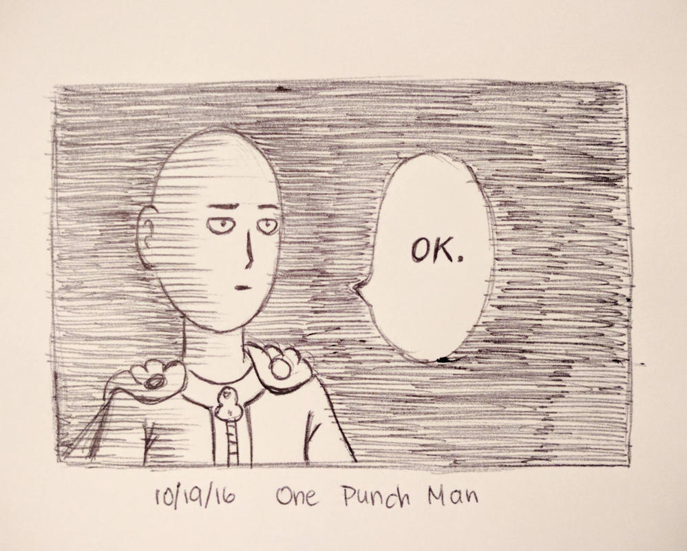 Inktober day 19 - One Punch Man by meihua