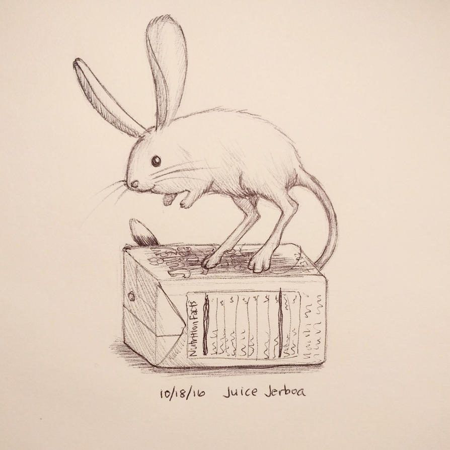 Inktober day 18 - Juice Jerboa by meihua