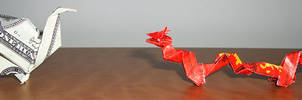 origami dragon east vs west