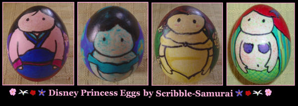 Disney Princess Eggs by Scribble-Samurai