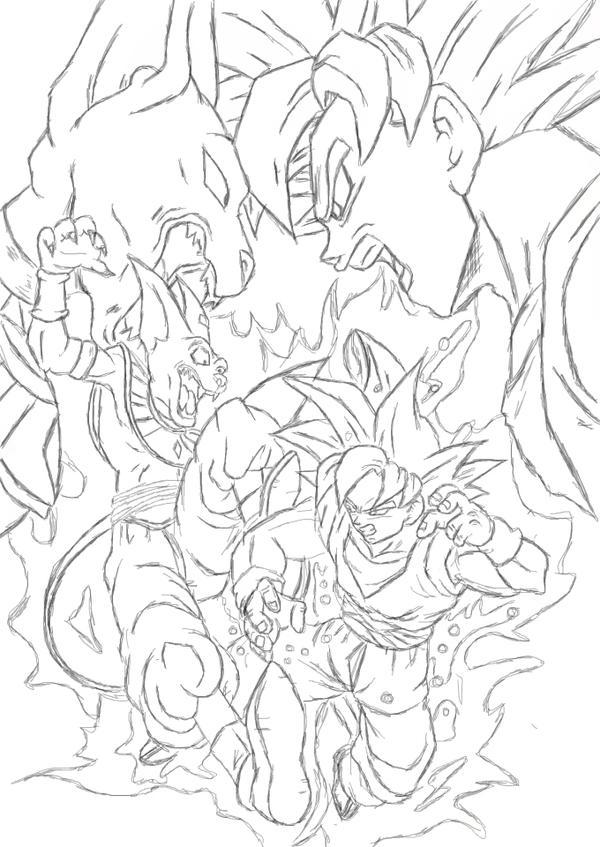 super saiyan god coloring pages - photo#42