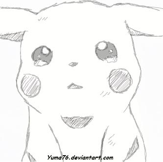 Pikachu crying drawing - photo#8