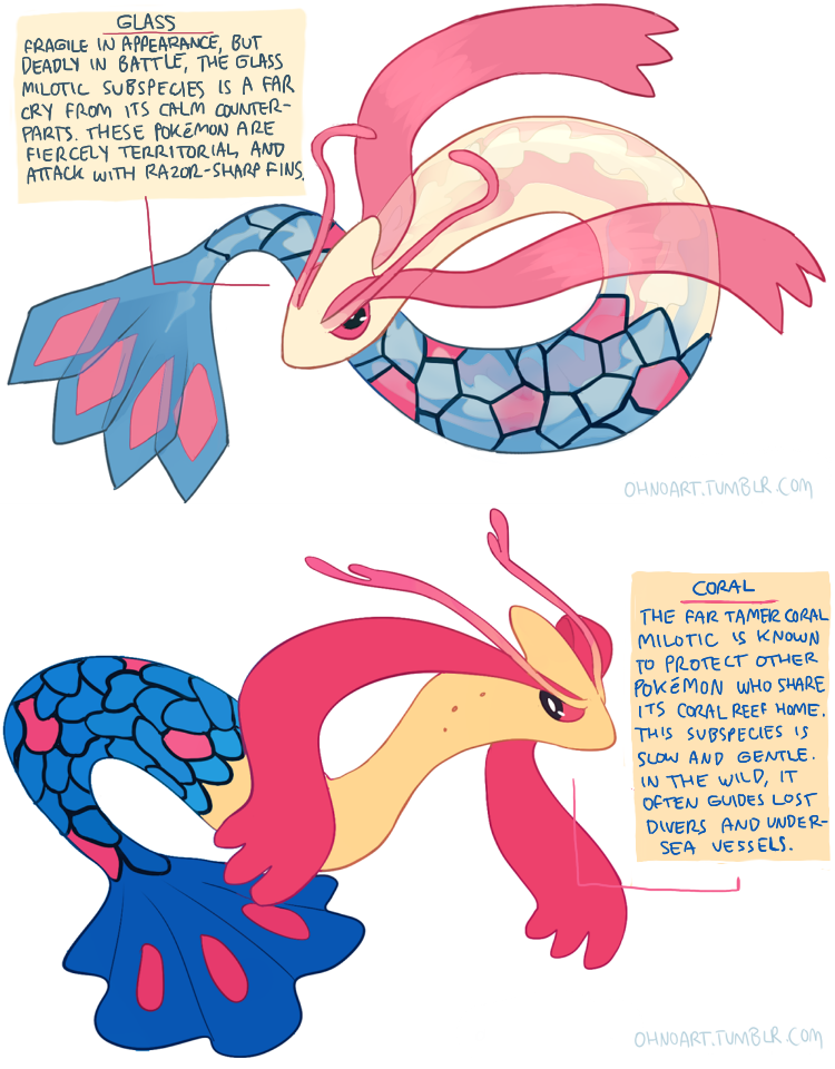 Milotic Subspecies By Fishervk On DeviantArt