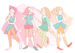 pearl - alternate character designs