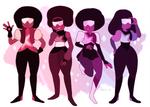 garnet - alternate character designs