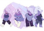 amethyst - alternate character designs