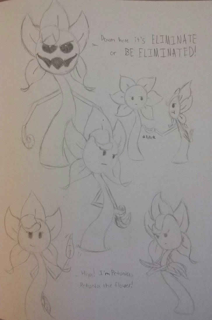 Petunia Sketches by animaniacsqueen