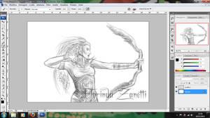 work in progress Archer of Griffins by FlorindaZanetti