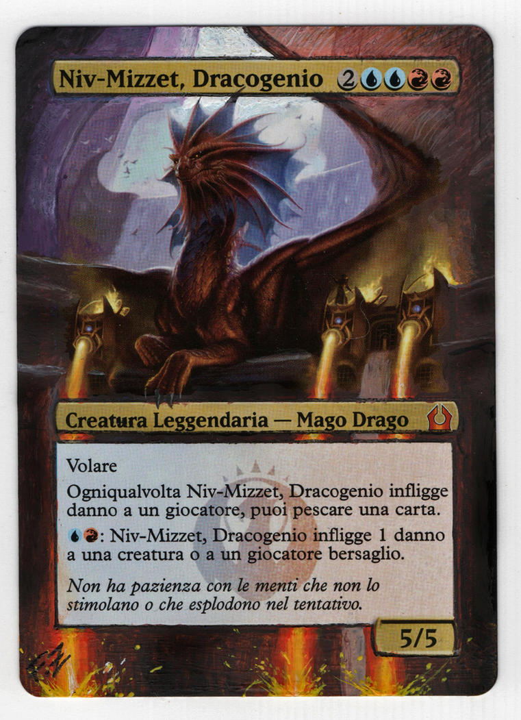 Artwork-Magic-NIv-Mizzet, Dracogenio by FlorindaZanetti
