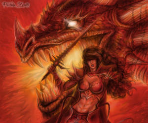 Spirit of the Red Dragon by FlorindaZanetti