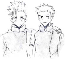 Young Vash and Knives by Naerko