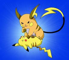 Pokemon Battle by Naerko