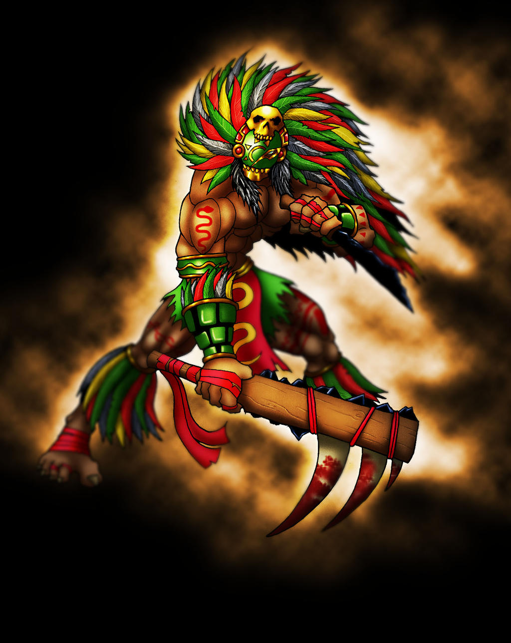 Aztec Warrior By BlondinFrenchTouch