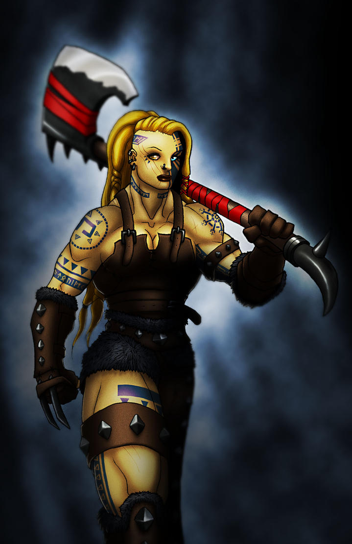 Female Warrior II by BlondinFrenchTouch