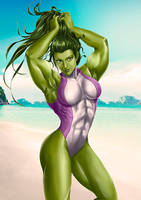 Commision She-Hulk by XKorner