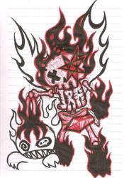 Saligia Mural - Ira (Wrath) by ZephyrXenonymous