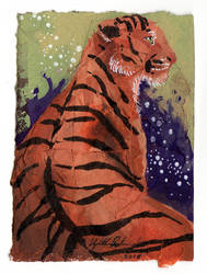 Collage Tiger ACEO 2 by Redwall151
