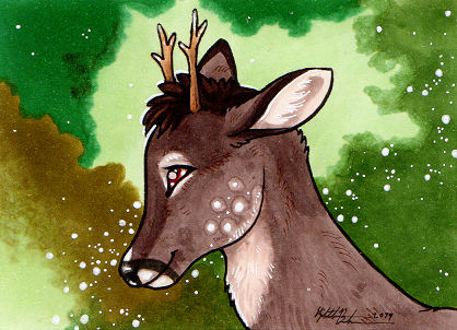 Forest Deer ACEO