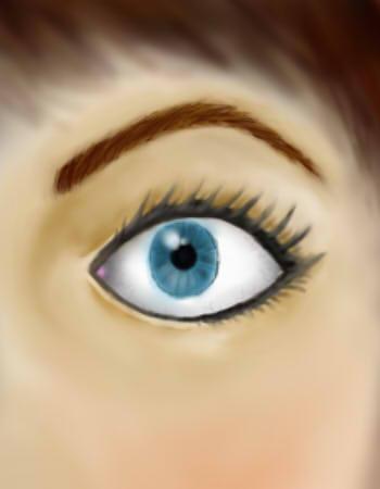 the blu eye by deborapink