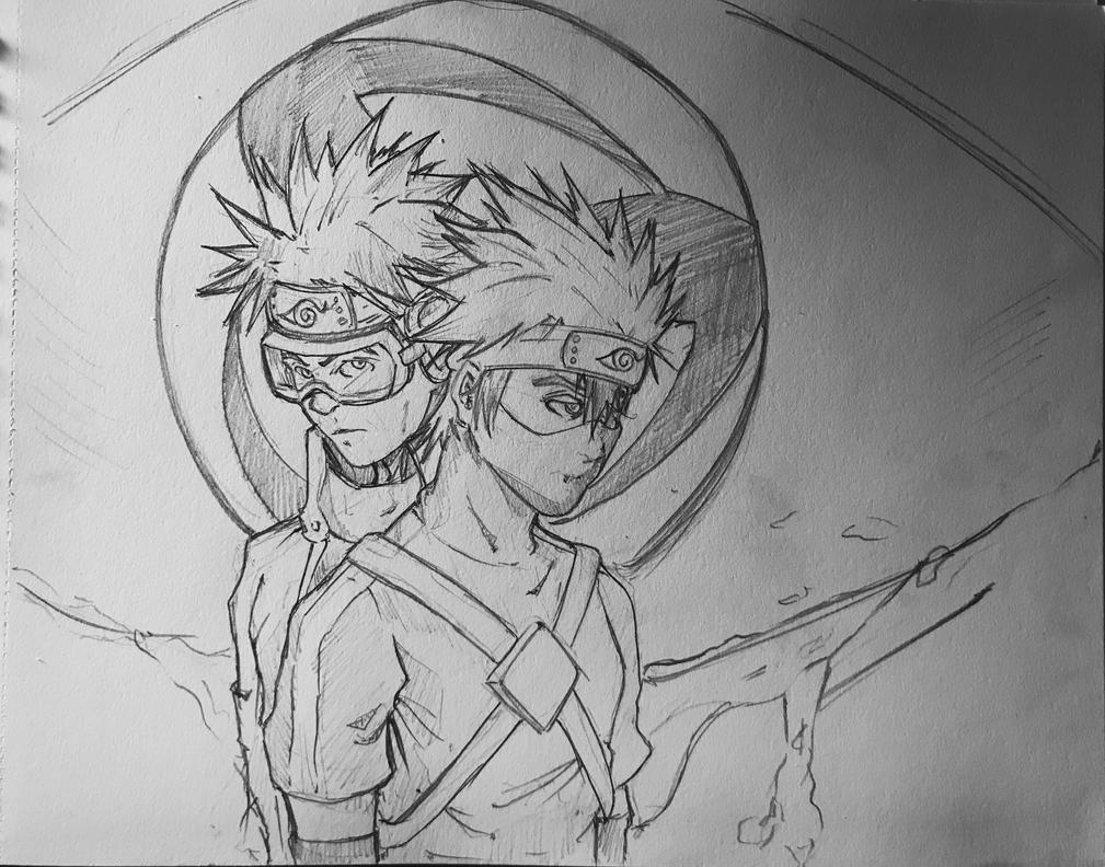 Obito y Kakashi by Dra-Erix