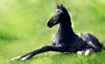 Baby Loki (Happy Bday feverpaint!)