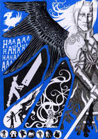 Poster - Sephiroth by greyflea