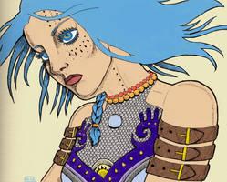 Blue hair by greyflea