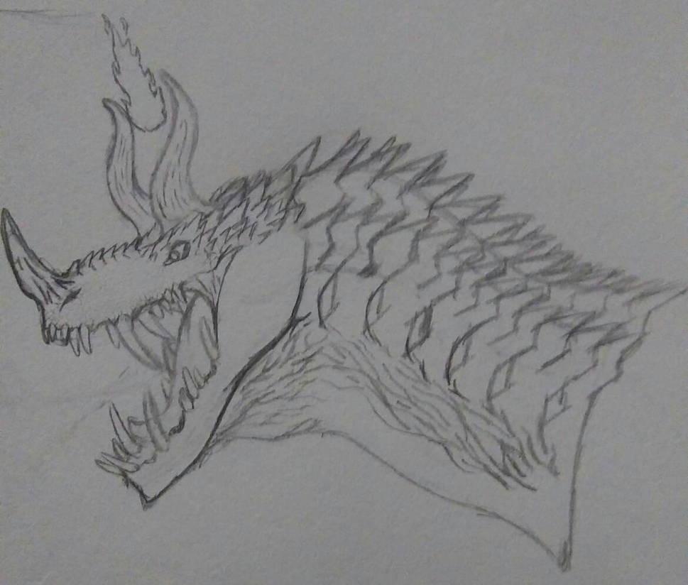 Brute drake paper sketch by Fire-Dragon-Slayer1