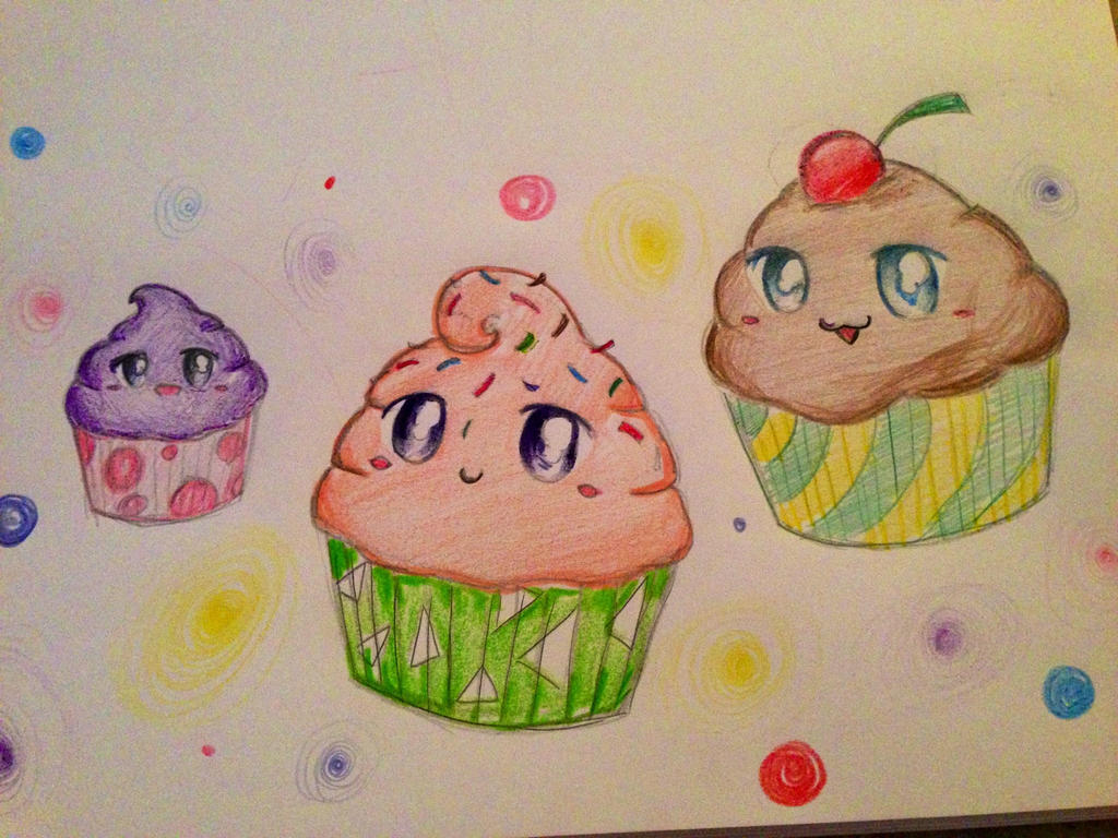how to draw kawaii cupcake