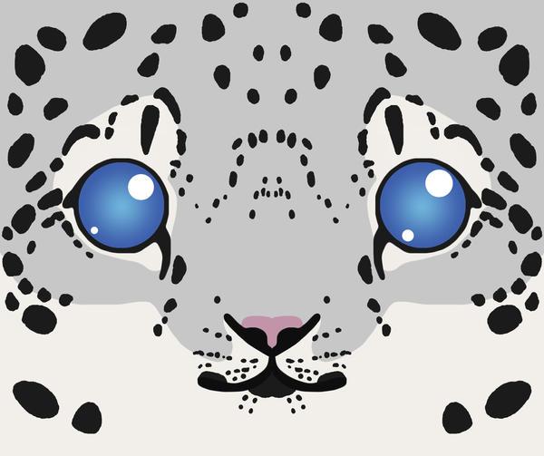 Snow Leopard Cub Mug by soyrwoo