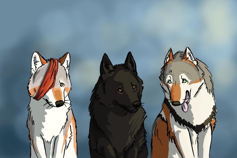 Alkda, Zorak, and Drakkon by soyrwoo
