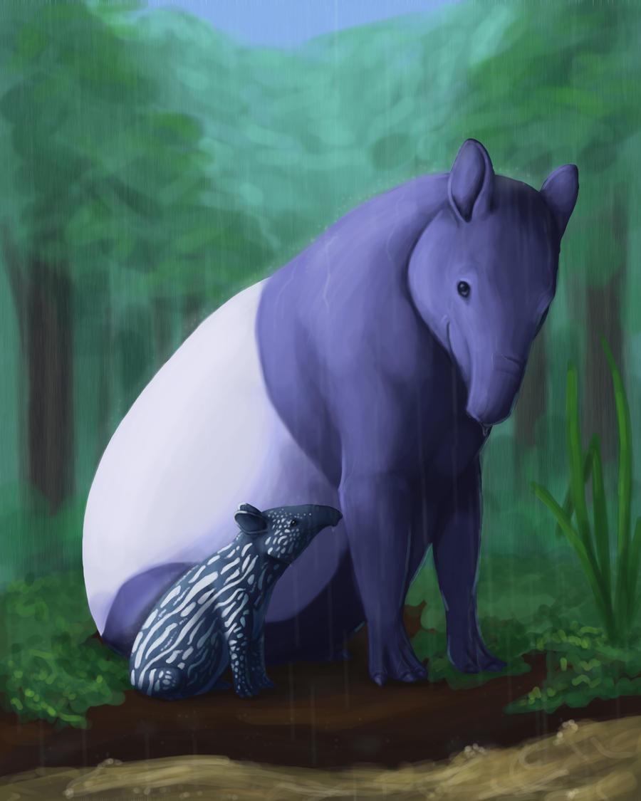 Tapiry Tapirs by soyrwoo