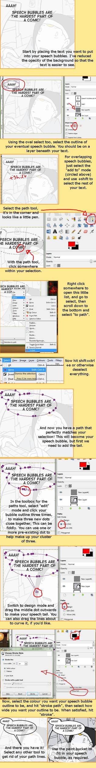 Make Speech Bubbles in GIMP