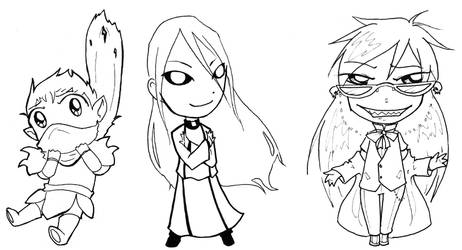 Miscellaneous Chibis by gryphflame