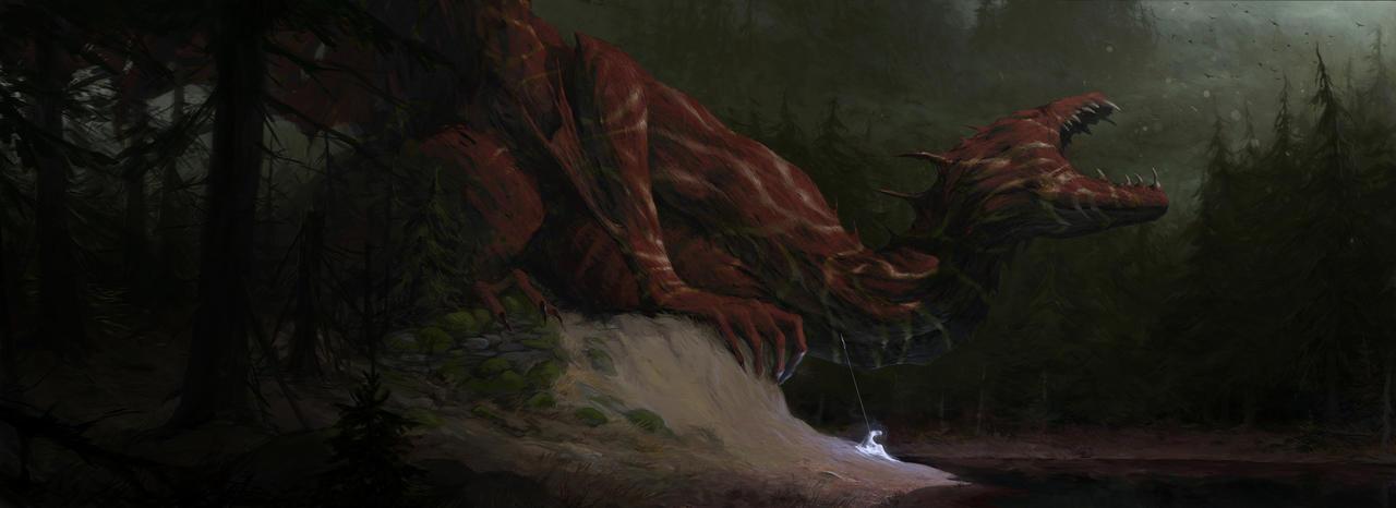 Old dragonrider by Vulpes-Ibculta