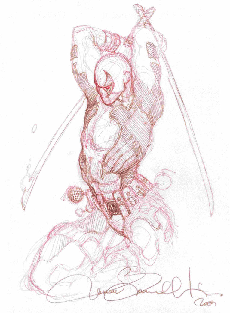 Deadpool by simone bianchi pencil by lilpool on deviantart