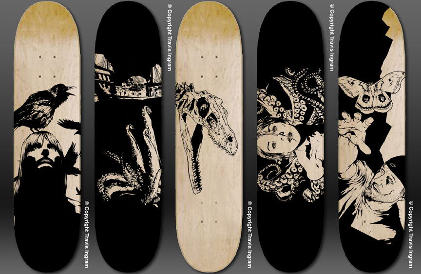 Skateboard Deck Designs by zerogenius