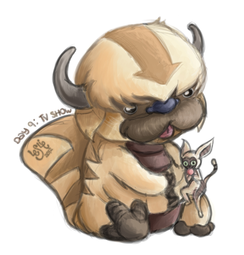 The Last Airbender Movie Appa: .:Appa And Momo:. By LeslieLamadrid On DeviantArt