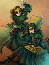 .:Collab Kyoshi Warriors:. by LeslieLamadrid