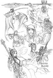 Sketches of S'anzu by JRinaldi