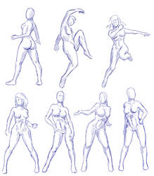 Female Gesture Practice by Caynez
